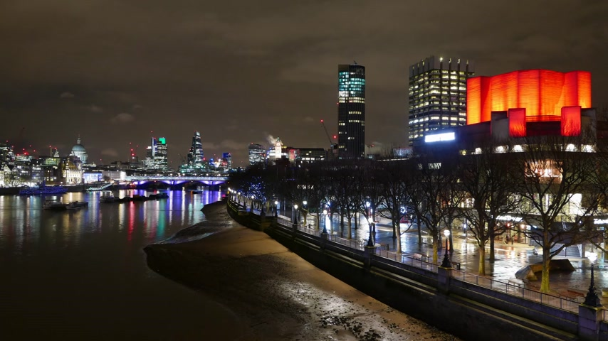 londra : Colorful London by night - time lapse
