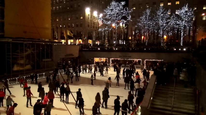 scoprire : Pista di pattinaggio al Rockefeller Center