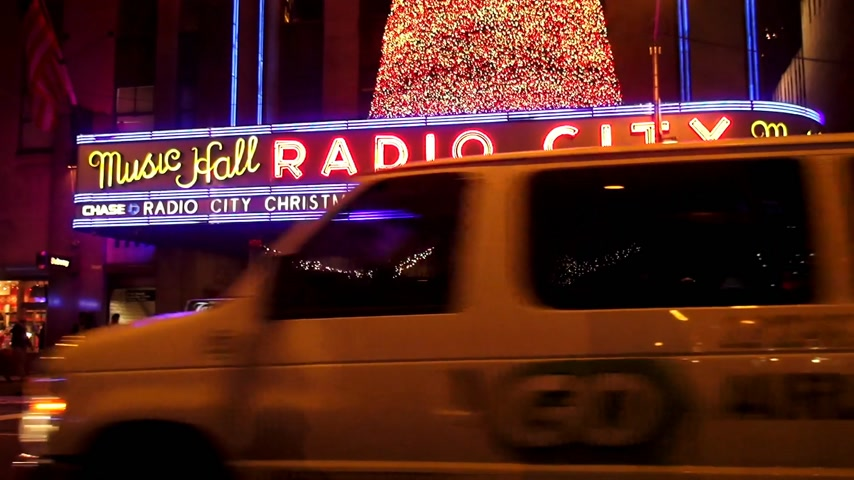tocht : Radio City Music Hall in het Rockefeller Center