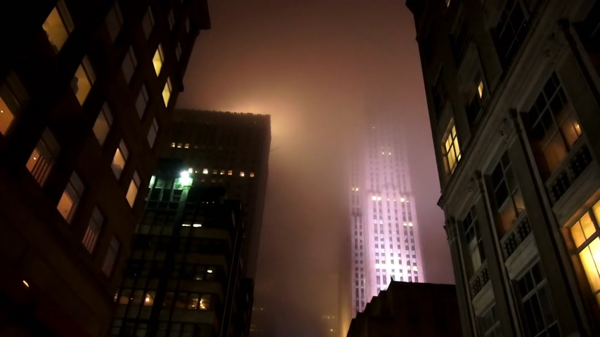tocht : Rockefeller Center in de mist