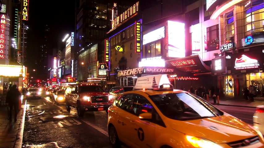 descobrir : Times Square New York by night Stock Footage