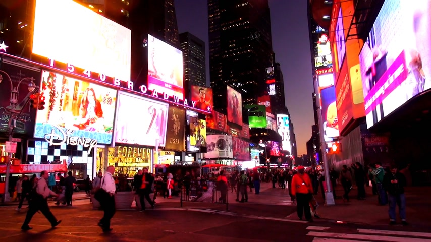 descobrir : Times Square New York in the evening