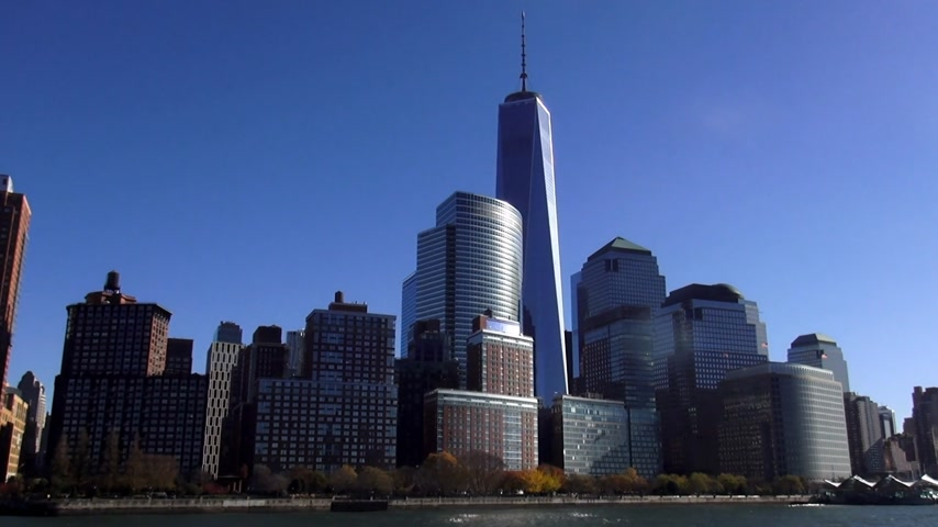 descobrir : Manhattan Financial district with new World Trade Center