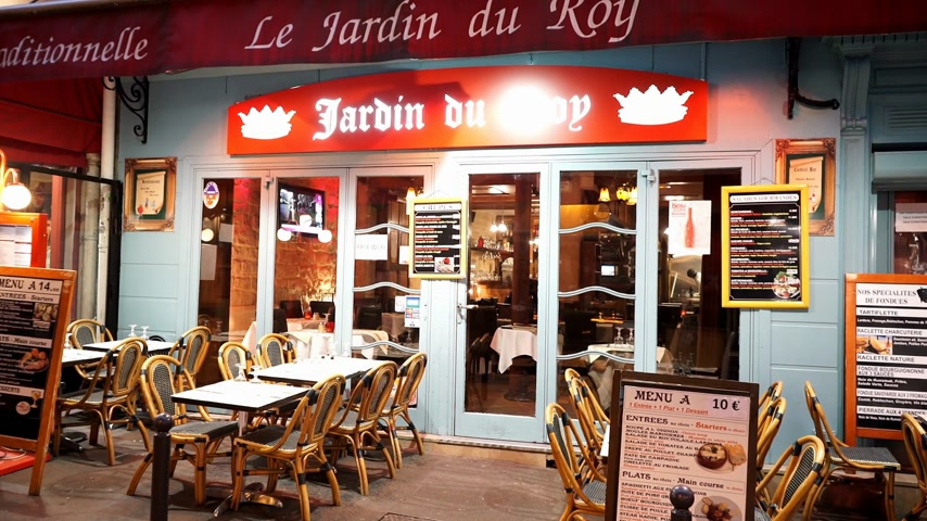 french metro : Small restaurant in Paris in Latin quarter - PARIS, FRANCE