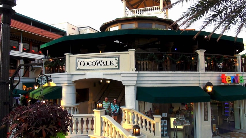 scoprire : CocoWalk Coconut Grove Filmati Stock