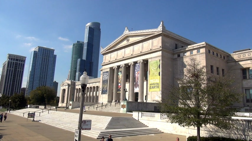 geográfico : National History Museum Chicago - CHICAGO, ILLINOIS  USA Stock Footage