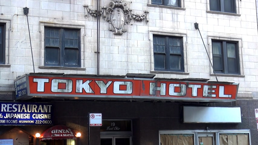 geográfico : Tokyo Hotel Chicago - CHICAGO, ILLINOIS  USA Stock Footage