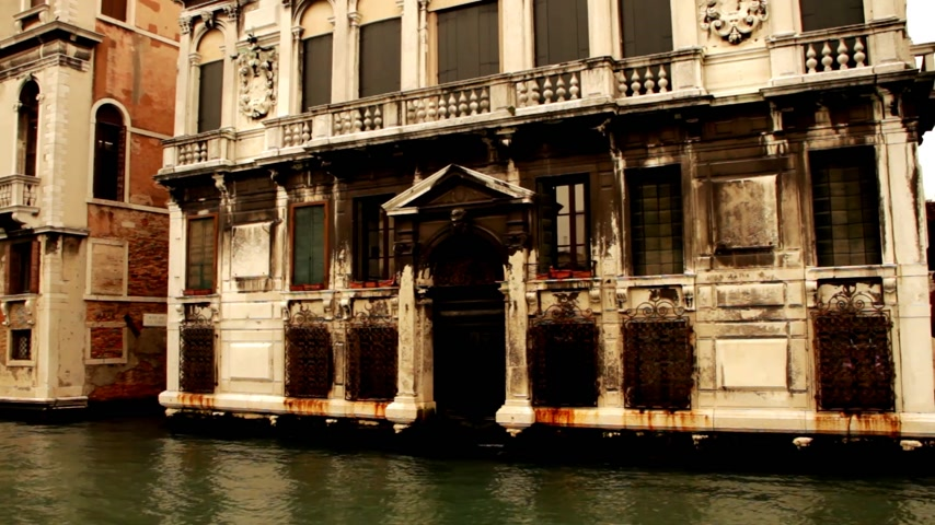 veneza : Ancient building in Venice, Venezia Stock Footage