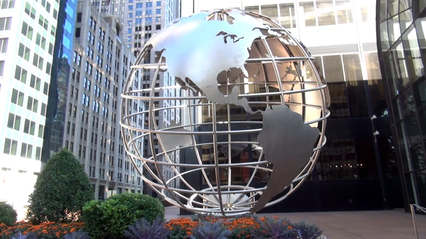 geográfico : Globe at Willis Tower Chicago former Sears Tower - CHICAGO, ILLINOIS  USA