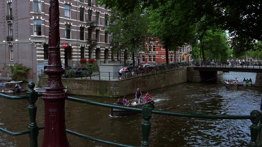 amsterodam : Romantic view Canals in Amsterdam