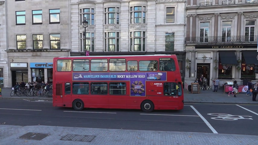 london england : London Bus - LONDON, ENGLAND Stock Footage