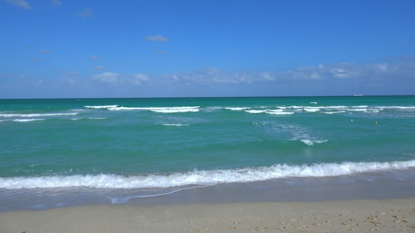 moře : View over the turquoise ocean at Miami Beach