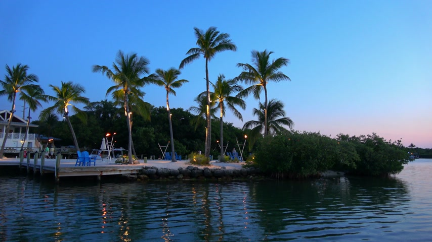 paraíso : Paradise Bay after sunset - very romantic place