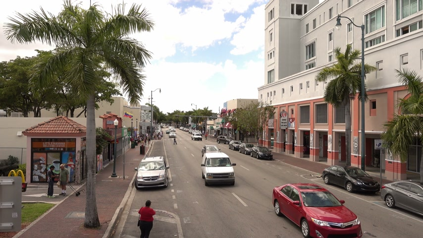 espetacular : Little Havana streetview Stock Footage