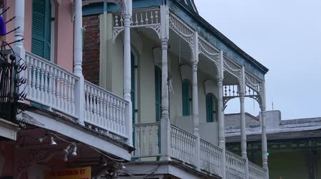 espetacular : Typical balconies at French Quarter Stock Footage