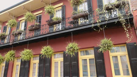 kult : Typical New Orleans mansions with iron balcony