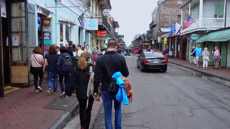 kult : Busy area at Bourbon Street French Quarter New Orleans Dostupné videozáznamy