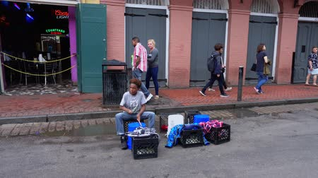 espetacular : Street musician at Bourbon Street French Quarter New Orleans