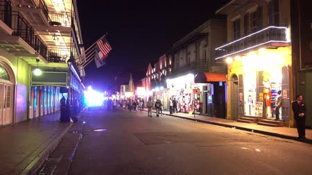 kult : New Orleans Police in the French Quarter at night