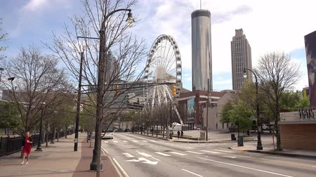 kerék : Atlanta Downtown skyline with Skyview Ferris Wheel