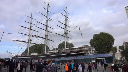 büyük britanya : Cutty Sark museum ship at Greenwich Stok Video