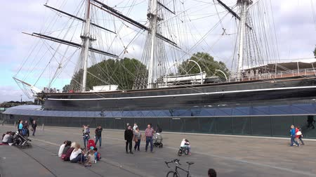 greenwich : Cutty Sark museum ship at Greenwich Stock Footage