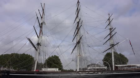 greenwich : Tourist Attraction in Greenwich - Cutty Sark sailing ship Stock Footage