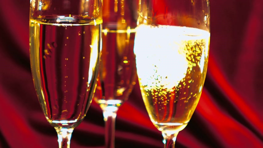 bakkaliye : Close up shot of sparkling wine or Champagne Stok Video