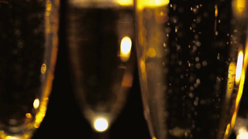 szampan : Macro shot of Golden Champagne - pure luxury Wideo