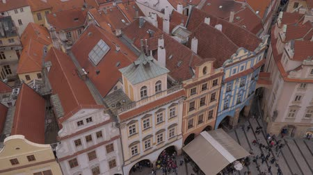 Československo : City of Prague - aerial view from Old Town Square Dostupné videozáznamy
