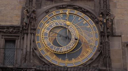 Československo : Famous astronomical clock at Old Town Square in Prague