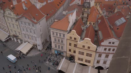 zegar : Aerial view over Old Town Square in Prague