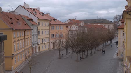 çek cumhuriyeti : Beautiful city of Prague - view from Charles Bridge Stok Video