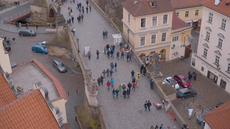 Československo : The famous Charles Bridge in Prague - a touristic hot spot in the city