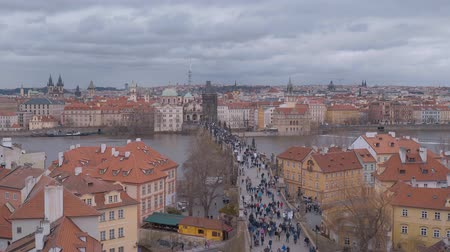 zegar : Wide angle view over the city of Prague