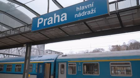 zegar : Praha central station - Prague railway station Wideo