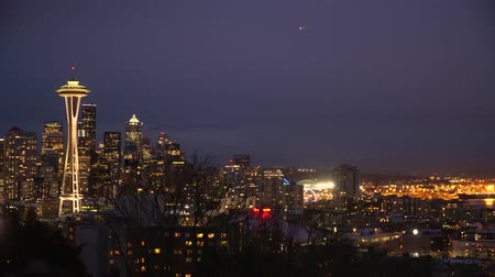 aguja : Aguja Seattle y Space - vista increíble de Kerry Park - SEATTLE  WASHINGTON - 12 de abril de 2017