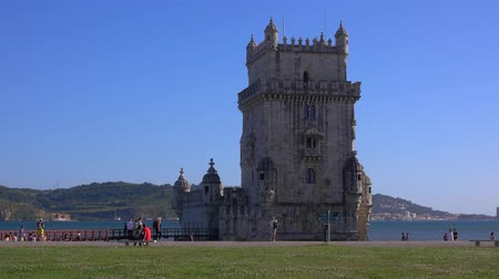 augusta : Important tourist attraction in Lisbon - The Tower of Belem - LISBON  PORTUGAL - JUNE 14, 2017