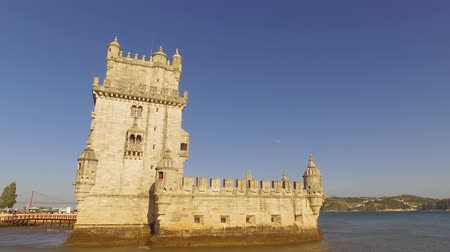 street prhotography : Famous Belem Tower in the city of Lisbon