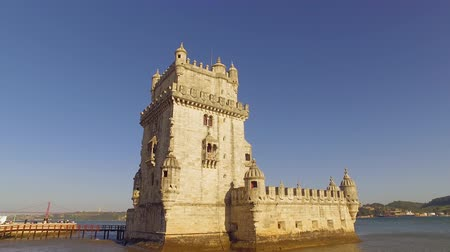 street prhotography : Important tourist attraction in Lisbon - The Tower of Belem