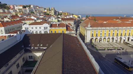 street prhotography : Aerial view over the city of Lisbon from Augusta street Arch - LISBON  PORTUGAL - JUNE 14, 2017