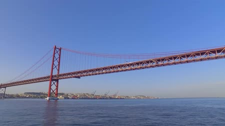 street prhotography : Former Salazar Bridge in Lisbon - now 25th of April Bridge