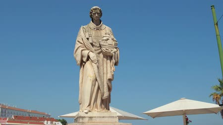 augusta : Statue on the hill of Alfama in Lisbon