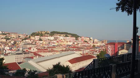 street prhotography : Awesome view over the city of Lisbon from the Upper city
