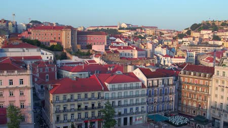 street prhotography : Aerial view over the city of Lisbon from Eden Theater