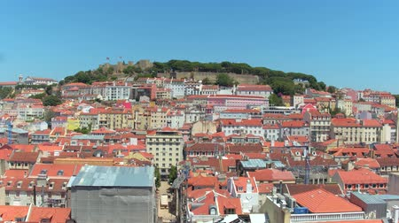 augusta : Amazing view over the city of Lisbon on a sunny day