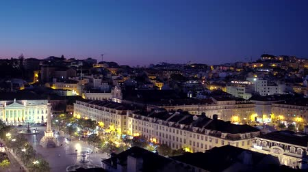 street prhotography : Aerial view over the city of Lisbon at night