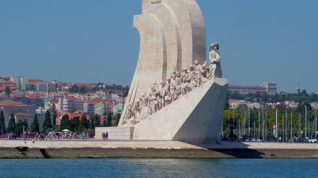 street prhotography : Monument of the Discoveries in Lisbon Belem at Tagus River