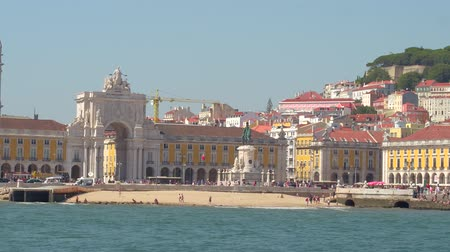 street prhotography : Amazing Comercio Square in Lisbon - view from Tagus River