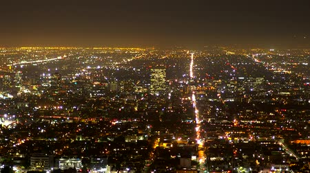 tocht : De citylights van Los Angeles in de nacht